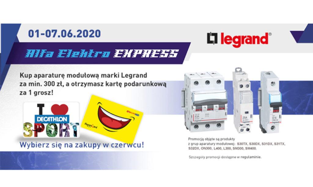 Alfa Elektro EXPRESS – LEGRAND – wybierz się na zakupy w czerwcu